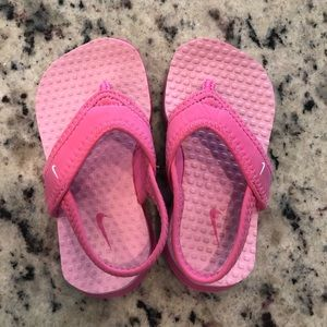 Nike pink sandals - size 6